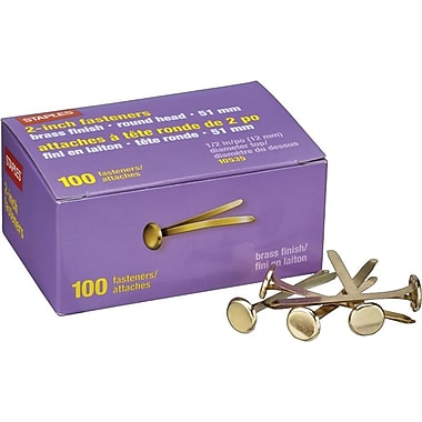 Staples® Brass Fasteners