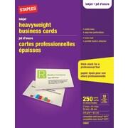 Staplesr inkjet business cards matte ivory 250 pack for Staples order business cards