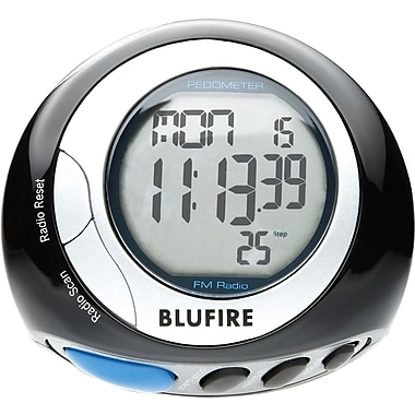 BluFire™ PD20 Pedometer w/FM Radio & headphones