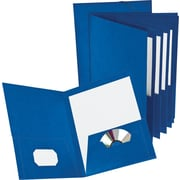 Oxford® Executive 8-Pocket Project Folders, Navy