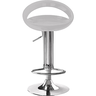 Zuo Modern Tickle ABS Sculptured Bar Stool, White
