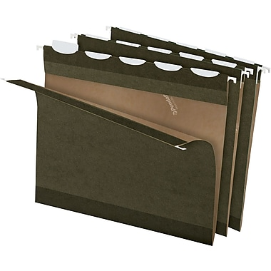 Pendaflex® Ready-Tab Hanging File Folders, Letter, 5 Tab, Standard Green, 25/Box