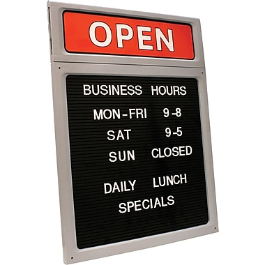 Cosco® Open/Close Sign and Character Set, 15