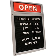 "Cosco® Open/Close Sign and Character Set, 15"" x 20.5"""
