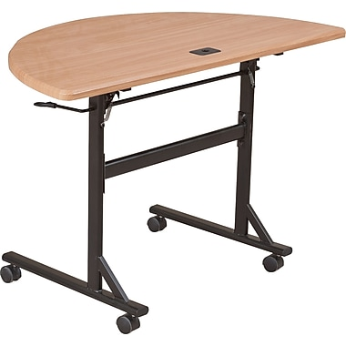 Balt Economy 48in. Half-Round Flipper Training Table, Teak