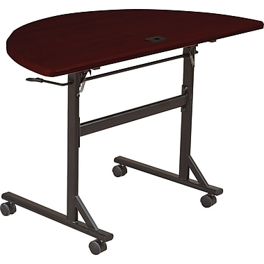 Balt Economy 48in. Half-Round Flipper Training Table, Mahogany