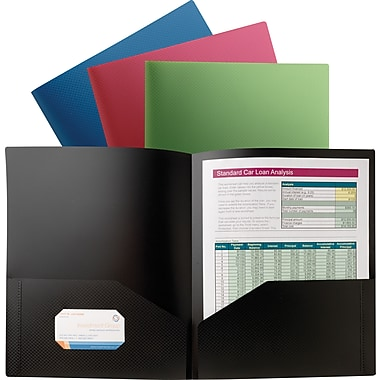 Staples® Textured Poly 2-Pocket Folders