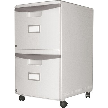 Storex® Locking File Double Drawers