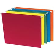 Staples® 100% Recycled Colored Hanging File Folders, 5 Tab, Tabs & Inserts Included, 20/Box