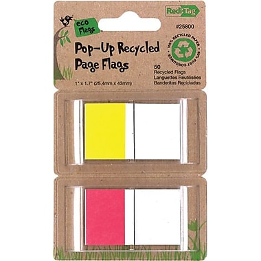 Redi-Tag 1in. Recycled Pop-Up Flags, 50 Flags/Pack