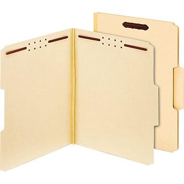 Globe-Weis Antimicrobial Pressboard Fastener Folders, Letter, 1/3 Cut