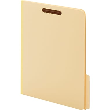 Globe-Weis Treated Fastener Folders, Letter, 1/3 Cut