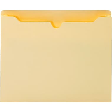 Globe-Weis Treated File Jackets, Letter Size, 1-1/2in. Expansion, 50/Pack