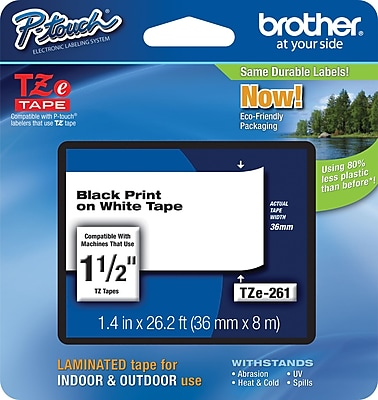 Brother TZe 261 1.5 P Touch Label Tape Black on White