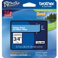 Brother® TZe-545 P-Touch® Label Tape, 3/4in. White on Blue