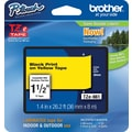 Brother® TZe-661 P-Touch® Label Tape, 1.5in. Black on Yellow