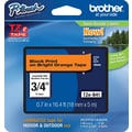 Brother® TZe-B41 P-Touch® Label Tape, 3/4in. Black on Flourescent Orange