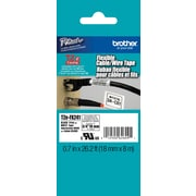 "Brother TZe-FX241 3/4"" Touch Label Tape Flexible ID Black on White"