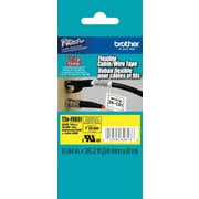 "Brother TZe-FX651 1"" P-Touch Flexible ID Label Tape, Black on Yellow"