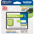 Brother® TZe-MQG35 P-Touch® Label Tape, 1/2in. White on Lime Green