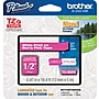 Brother® TZe-MQP35 P-Touch® Label Tape, 1/2 White on