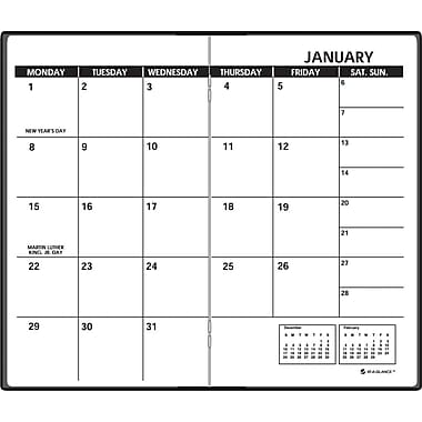 "2014 AT-A-GLANCE® Two-Year Monthly Planner, 3 1/2"" x 6 1/8"""