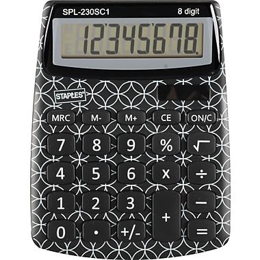 Staples® SPL-230 8-Digit Display Calculator, Da Vinci Pattern