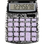 Staples® SPL-230 8-Digit Display Calculator, Floral Pattern