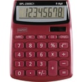 Staples® SPL-230 8-Digit Display Calculator, Berry Red