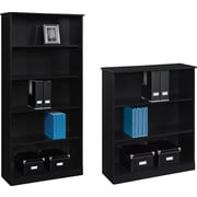 Altra™ Chadwick Collection 3 and 5-Shelf Bookcases, Nightingale Black