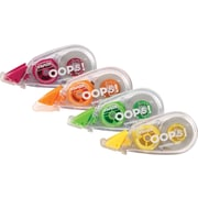 Staples® OOPS!™ Mini Correction Tape, 4/Pack