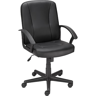 Staples® Lockridge™ Bonded Leather Managers Chair, Black