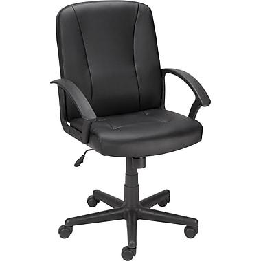 Staples® Lockridge™ Bonded Leather Managers Chair, Black