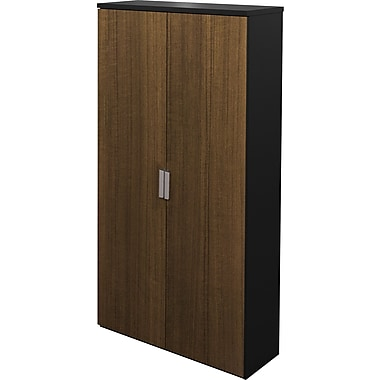 Bestar Pro Concept Collection Armoire, Milk Chocolate & Black