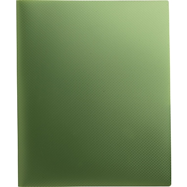 Staples® Textured Poly 2-Pocket Folder, Green
