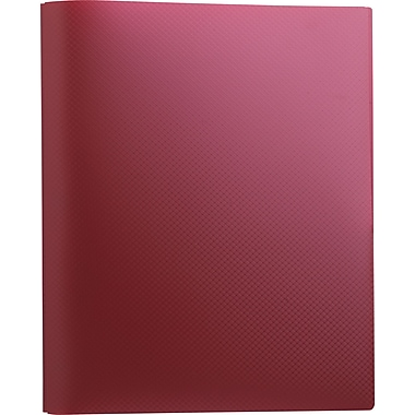 Staples® Textured Poly 2-Pocket Folders with Fasteners, Burgundy
