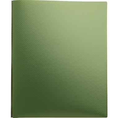 Staples® Textured Poly 2-Pocket Folders with Fasteners, Green