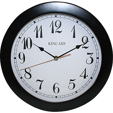Kincaid 11.5in. Clock with Arabic Dial, Black Wood with White Face