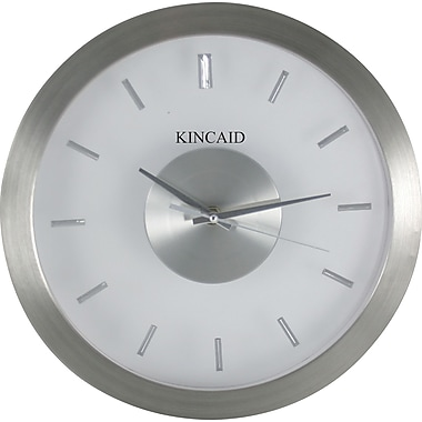 Kincaid 12in. Aluminum Wall Clock