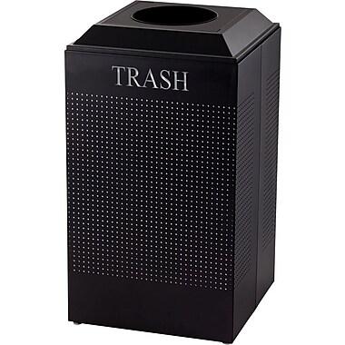 Rubbermaid® Designer Line Silhouette Trash Container, Black