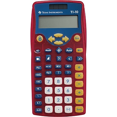 Texas Instruments TI-10 Elementary Calculator, Teacher Pack
