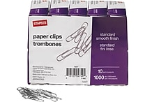 Staples® #1 Size Paper Clips, 1,000/Pack