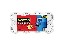 Scotch® Heavy-Duty Packaging Tape, Clear, 1.88' x 54.6 yds, Bonus Pack 8 Rolls