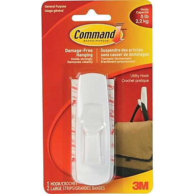 3M™ Command Adhesive Hooks, Large