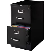 Staples® Vertical File Cabinet, 22, 2- Drawer, Letter Size, Black
