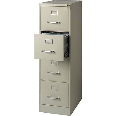 Staples Vertical File Cabinet, 22in., 4- Drawer, Letter Size, Putty