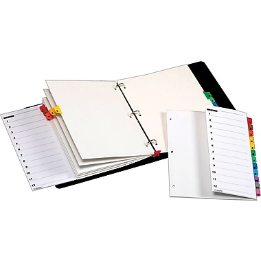 Cardinal® OneStep® Fold-Out Printable Table of Contents and Dividers, 12-Tab, 1 set/pack Multi-Color