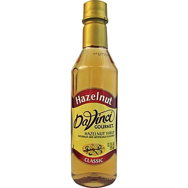 DaVinci Gourmet® Hazelnut Flavored Syrup, 12.7 oz. Bottle, 6/Case