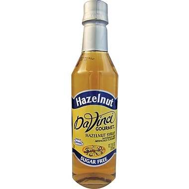 DaVinci Gourmet® Sugar Free Hazelnut Flavored Syrup, 12.7 oz. Bottle, 6/Case