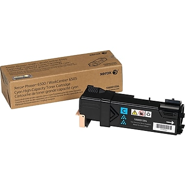 Xerox Phaser 6500/WorkCentre 6505, Cyan Toner Cartridge (106R01594), High Yield